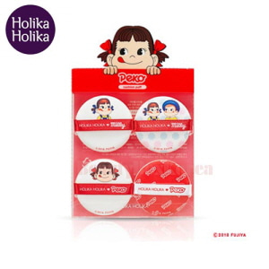 HOLIKA HOLIKA Hard Cover Cushion Puff 4ea [Sweet Peko Edition]